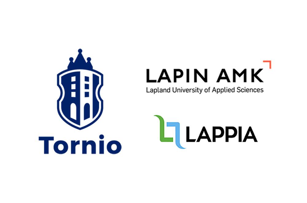 Tornion kaupungin, Lapin AMKin ja Lappian logot