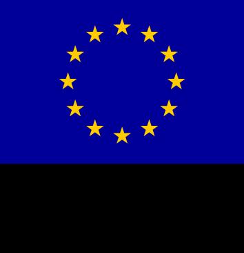 Euroopan aluekehitysrahasto ja yläpuolella EU-loppu